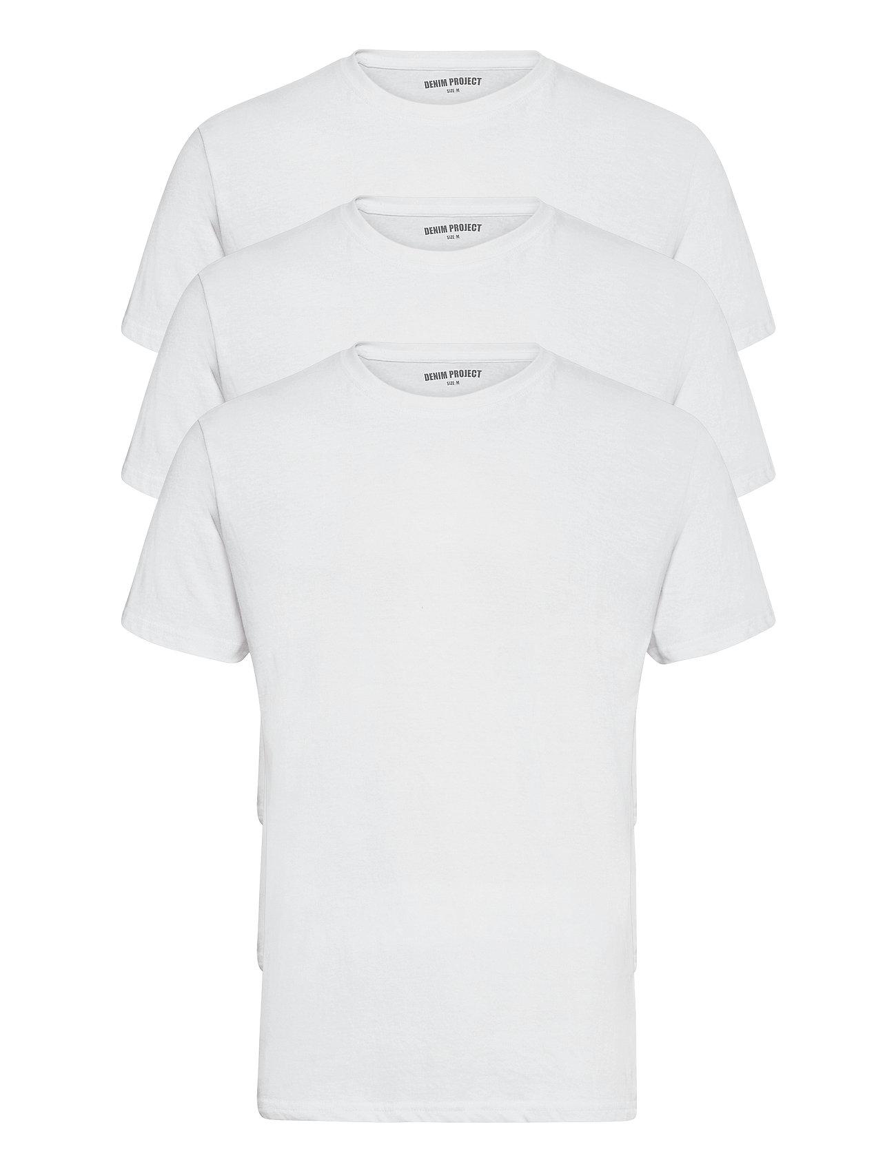 Image of 3 Pack T-Shirts T-shirt Hvid Denim Project (3484641457)