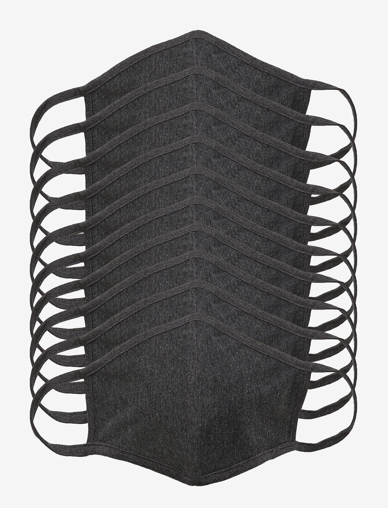 Denim project - MASK 10 PACK - gezicht maskers - dark grey melange - 0