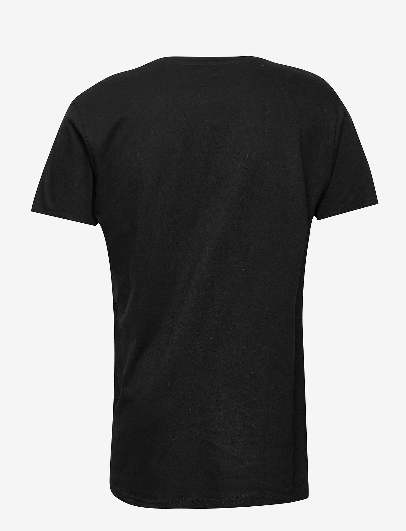 Denim project - DP Longy Tee 5 Pack - basic t-shirts - 3 black/ 2 white - 1