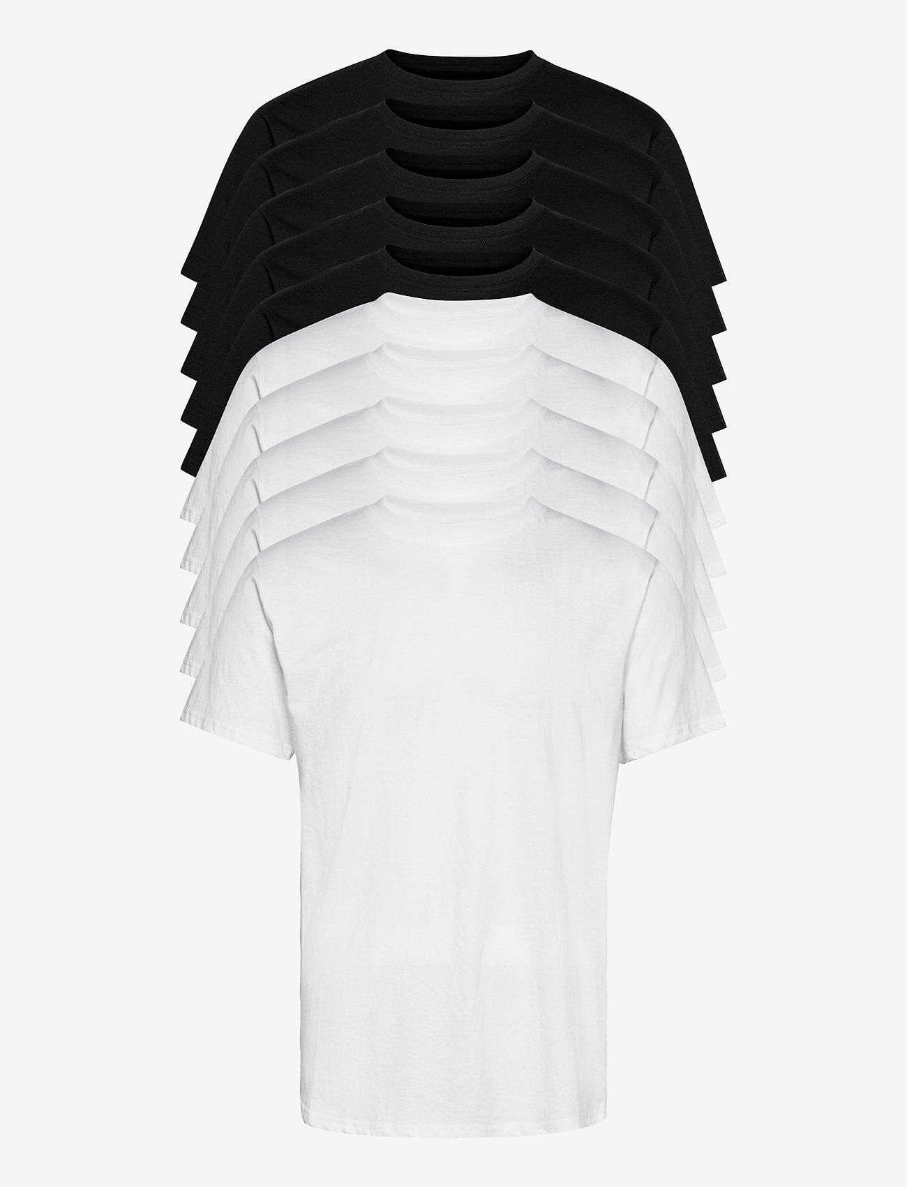 Denim project - DP Longy Tee 10 Pack - basic t-shirts - 5 black/ 5 white - 0