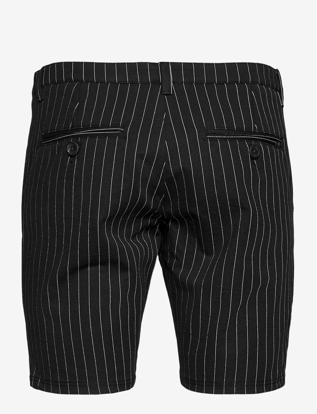 Denim project - Ponte Shorts - chinos shorts - black white pin - 1