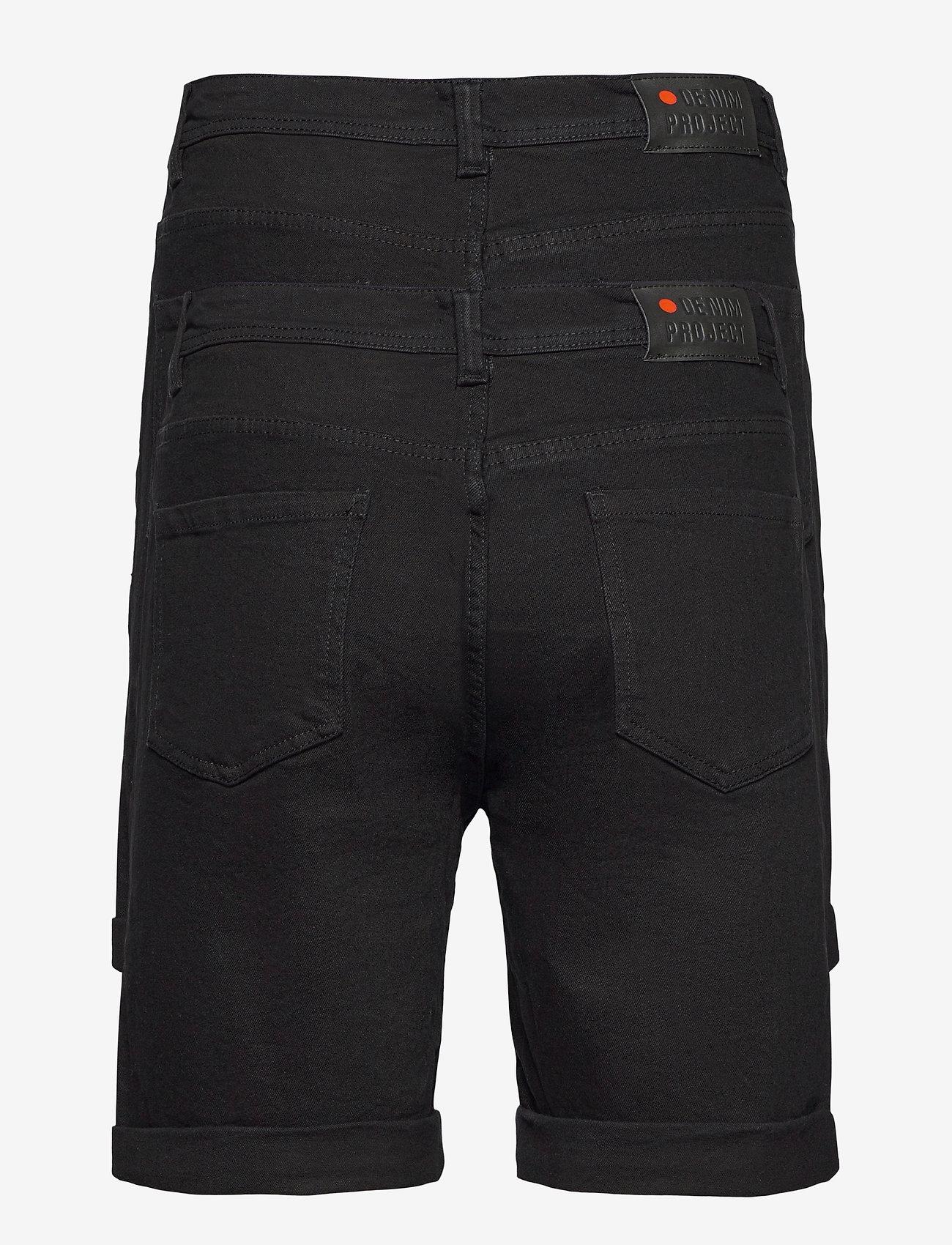 Denim project - Mr Orange 2 Pack - denim shorts - black/black - 1