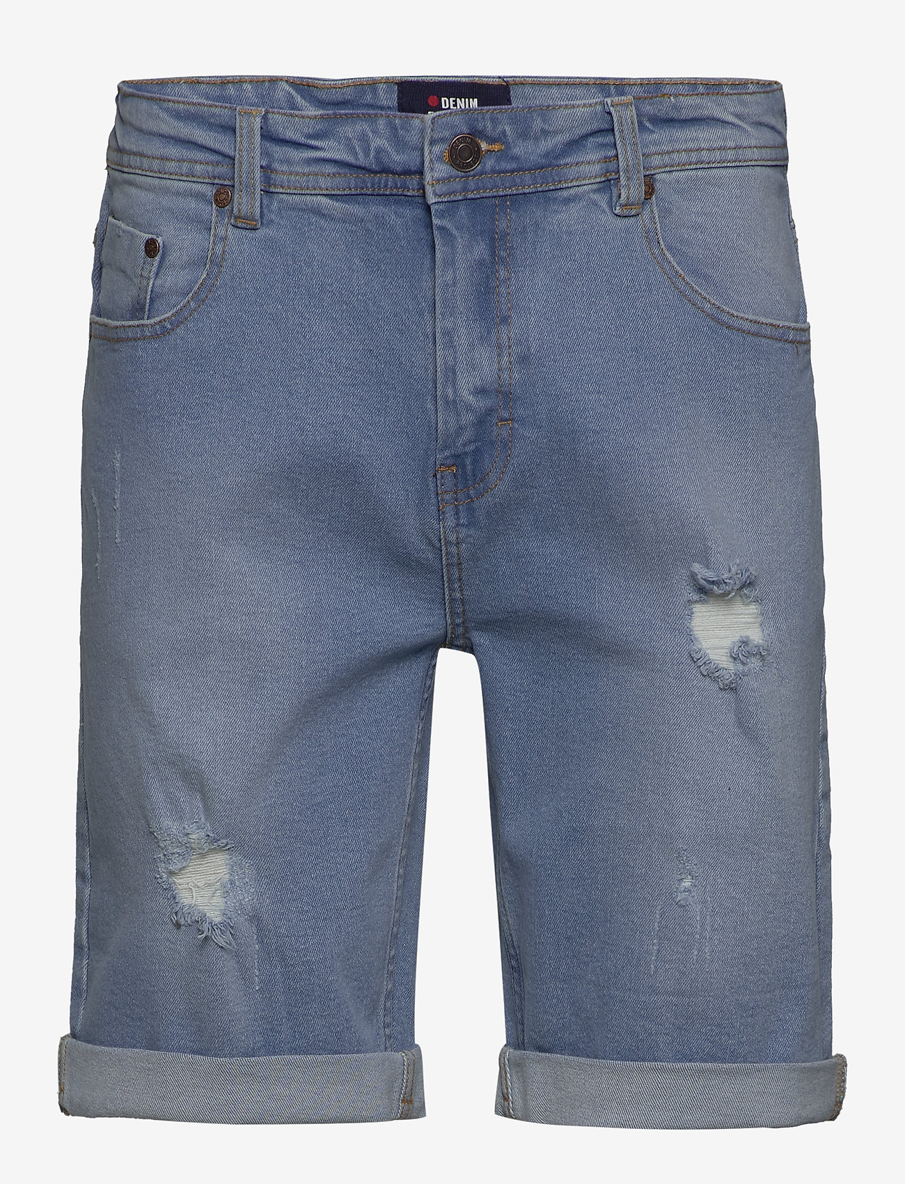 Denim project - Mr. Orange - farkkushortsit - light blue destroy - 0