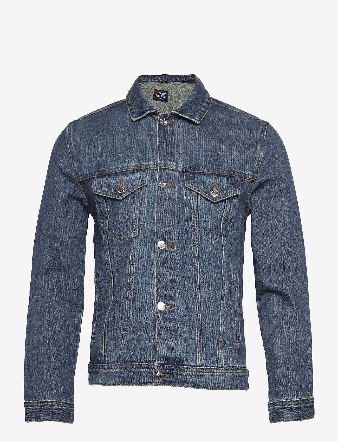 Denim project - Organic  Denim Jacket - denimjakker - 128 dark wash - 0