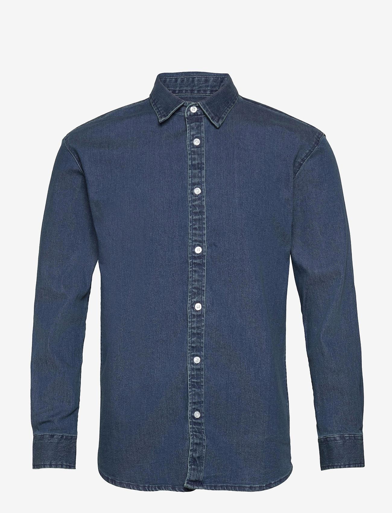 Denim project - Lenny Denim Shirt L/S - basic skjorter - 043 dark blue - 0