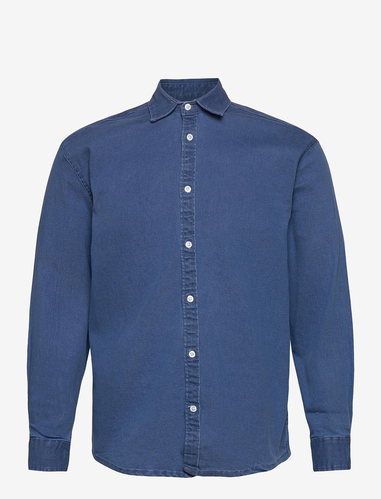 Denim project - Lenny Denim Shirt L/S - basic skjorter - light blue - 0