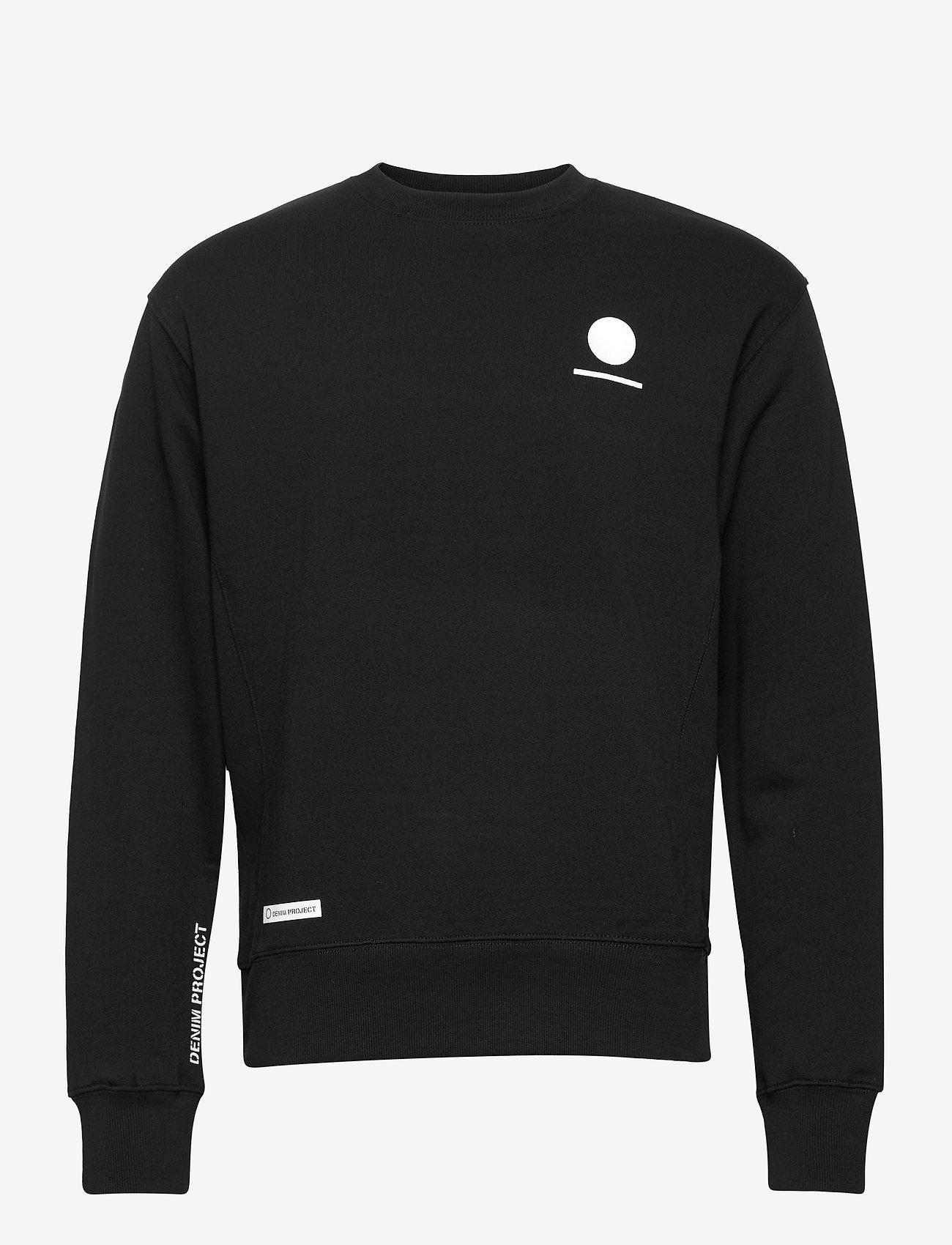Denim project - Horizon Logo Organic Crewneck - basic sweatshirts - 001 black - 0