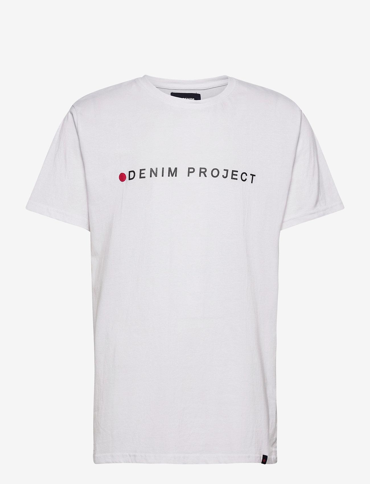Denim project - Logo Tee - kortærmede t-shirts - white - 0