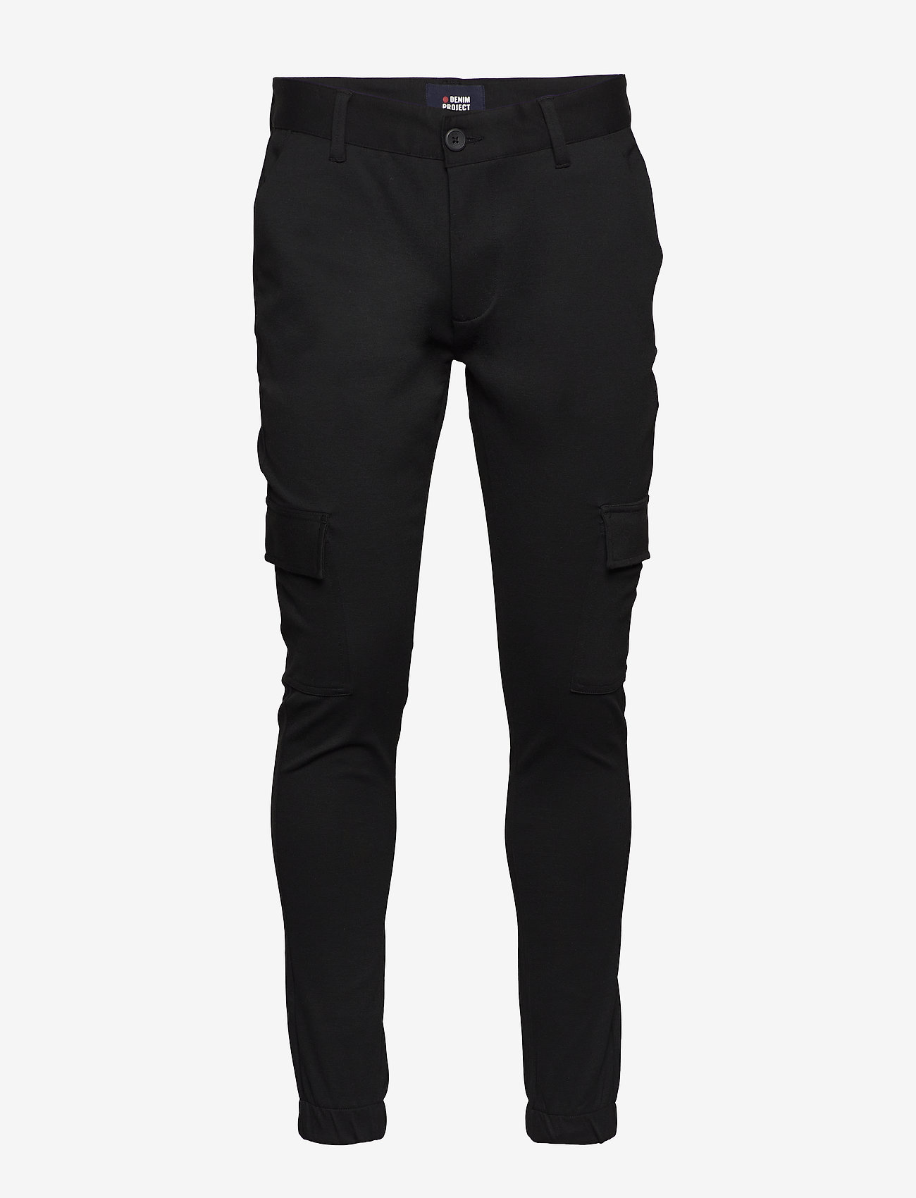 Denim project - Ponte Cargo pant - bojówki - black - 0