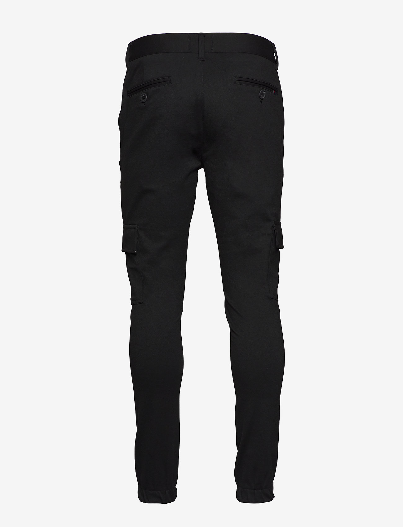 Denim project - Ponte Cargo pant - bojówki - black - 1