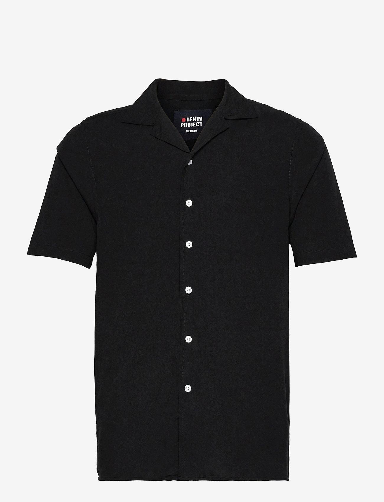 Denim project - EL G SS CUBA SHIRT - kortærmede skjorter - 001 black - 0
