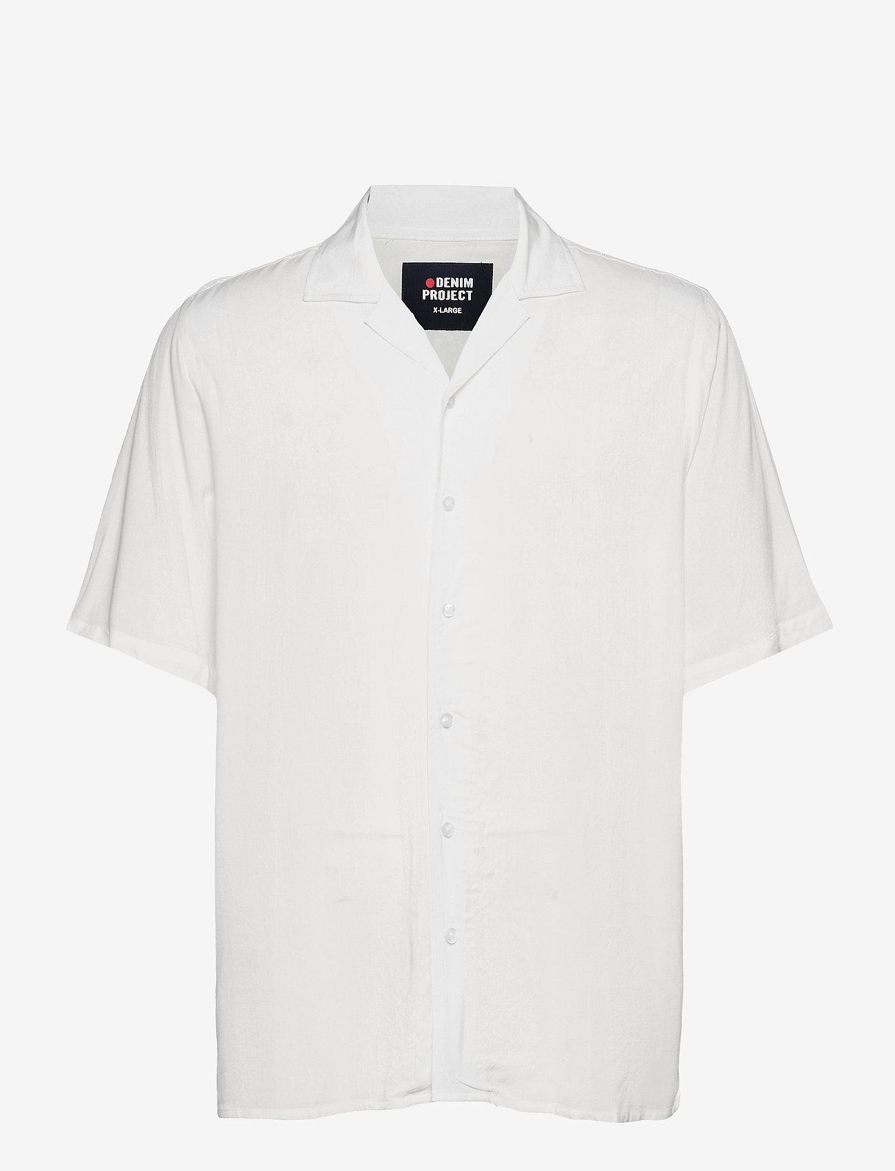 Denim project - EL G SS CUBA SHIRT - kortærmede skjorter - 002 white - 0