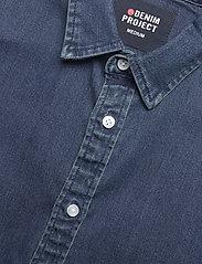 Denim project - Lenny Denim Shirt L/S - basic skjorter - 043 dark blue - 3