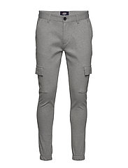 Ponte Cargo pant - LIGHT GREY MELANGE