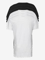 Denim project - DP Longy Tee 5 Pack - basic t-shirts - 3 black/ 2 white - 2