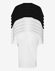 Denim project - DP Longy Tee 10 Pack - basic t-shirts - 5 black/ 5 white - 1