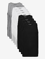Denim project - DP Tanktop 10 Pack - basic t-shirts - 4xblack 4xwhite 2xlgm - 0