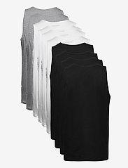 Denim project - DP Tanktop 10 Pack - basic t-shirts - 4xblack 4xwhite 2xlgm - 6