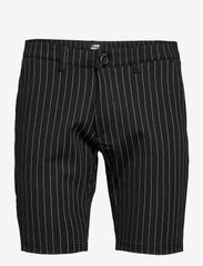 Denim project - Ponte Shorts - chinos shorts - black white pin - 0