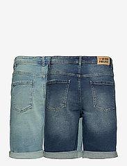 Denim project - Mr Orange 2 Pack - denim shorts - 044 light blue/ 043 dark blue - 1
