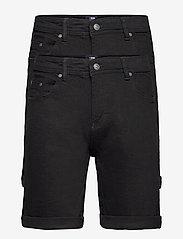 Denim project - Mr Orange 2 Pack - denim shorts - black/black - 0