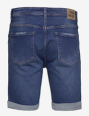Denim project - Mr. Orange - farkkushortsit - dark blue destroy - 1