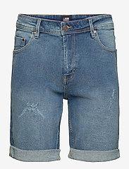 Denim project - MR Orange Light Destroy - denim shorts - 172 sicily blue - 0