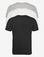 Denim project - 3 PACK T-SHIRTS - basic t-shirts - black/white/light grey melange - 1