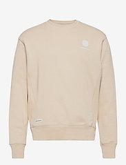 Denim project - Horizon Logo Organic Crewneck - basic sweatshirts - 128 ivory - 0