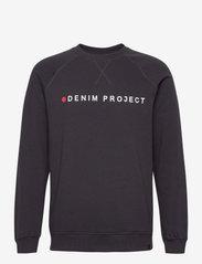 Denim project - Logo Crew - overdele - dark navy - 0
