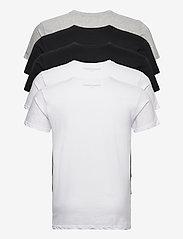 Denim project - 5 PACK T-SHIRTS - basic t-shirts - black/white/light grey melange - 10
