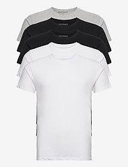 Denim project - 5 PACK T-SHIRTS - basic t-shirts - black/white/light grey melange - 9