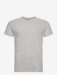 Denim project - 5 PACK T-SHIRTS - basic t-shirts - black/white/light grey melange - 2
