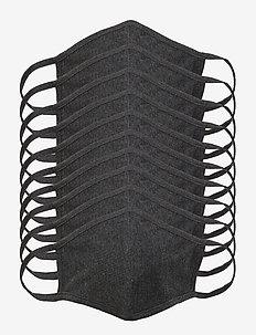 MASK 10 PACK - munskydd - dark grey melange