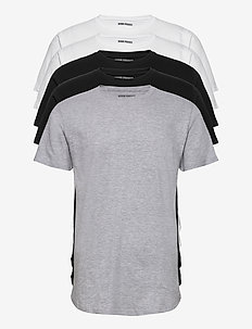 DP Longy Tee 5 Pack - basic t-shirts - 2 black/ 2 white/ 1 lgm