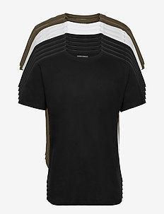 DP Longy Tee 10 Pack - basic t-shirts - 5 black/ 3 white / 2 olive night