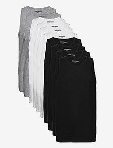 DP Tanktop 10 Pack - basic t-shirts - 4xblack 4xwhite 2xlgm