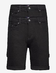 Mr Orange 2 Pack - denim shorts - black/black