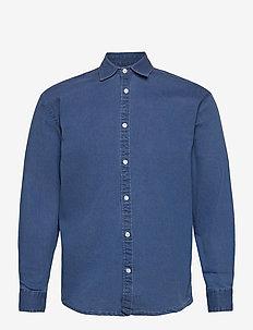 Lenny Denim Shirt L/S - basic shirts - light blue
