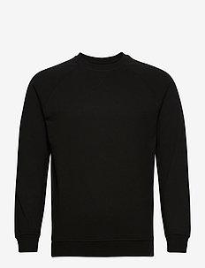 BASIC SWEAT CREW - perus-college-paitoja - 001 black