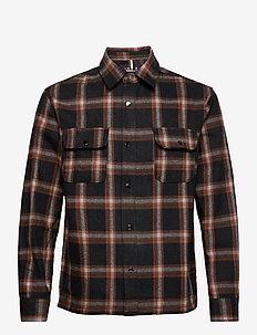 DPCHECK OVERSHIRT - yläosat - brown check