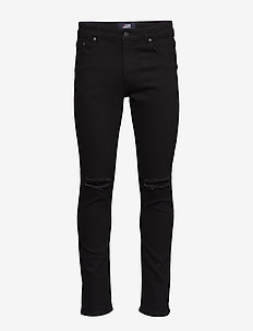 Mr Red Knee Cut - slim jeans - black