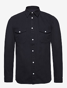 LUIS SHIRT - basic shirts - navy
