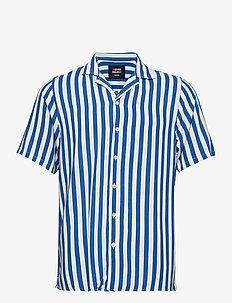 EL G SS CUBA SHIRT - kortærmede skjorter - navy white