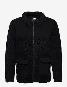 DPLouis Teddy Jacket - mid layer jackets - 001 black