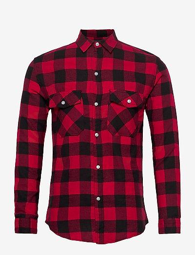 DPSAMI SHIRT - rutiga skjortor - red check