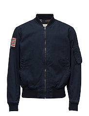 SLIM CHINO TWILL BOMBER JACKET - WINTER NAVY