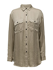 HUNTER MLTRY-LONG SLEEVE-SHIRT - FADED OLIVE