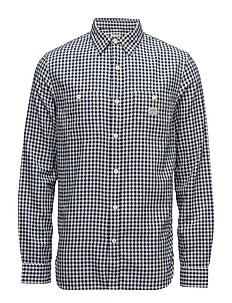 Plaid Cotton Oxford Workshirt - BLUE PLAID
