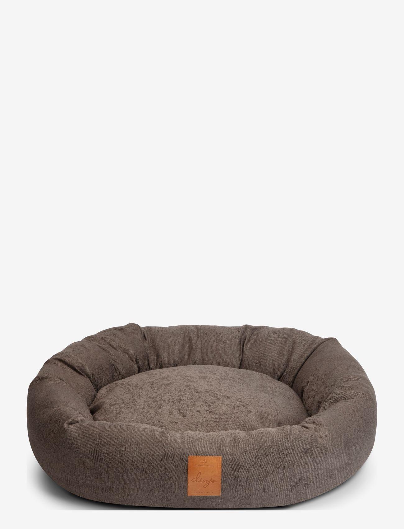 Denjo Dogs - Donut Bed Leather - hundesenge - brown - 0